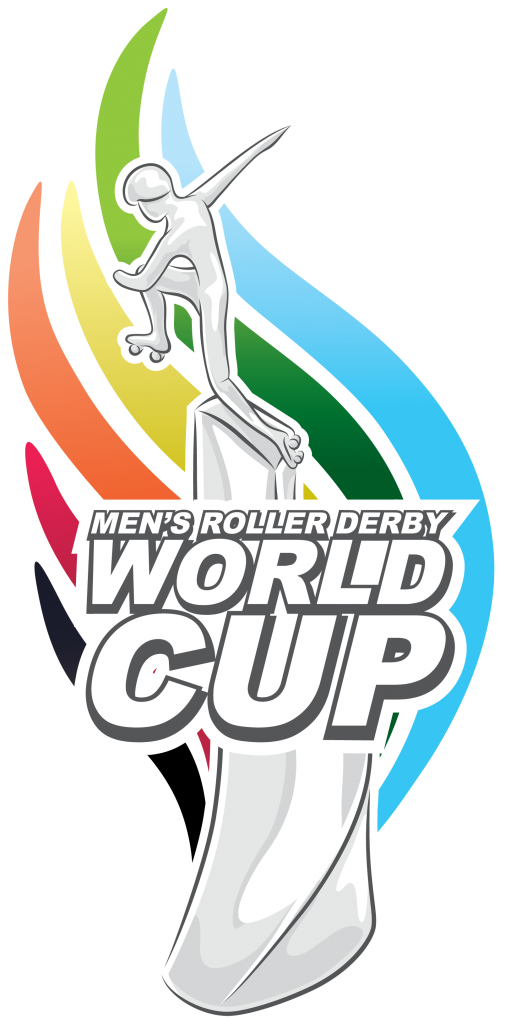 Trophy logo for the Men's Roller Derby World Cup